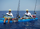 Tandem fishing Hawaii style