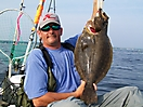 Chris with a nice fluke