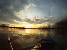 Sunset over kayak_1