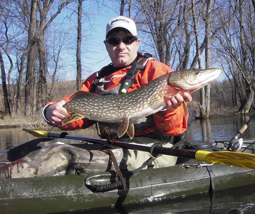 Danny with a nice Passaic River Pike