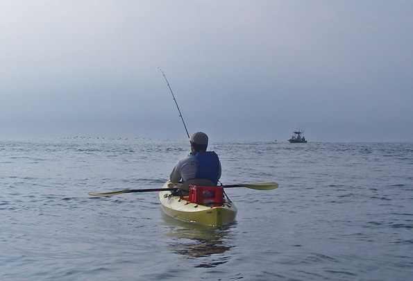 Paddling Out While Kayak Fishing