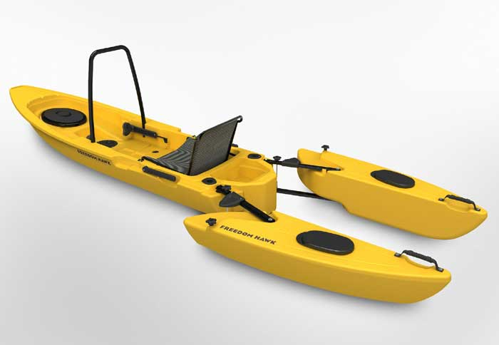 Freedom Hawk pathfinder fishing kayak