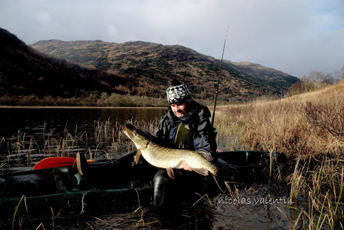 Nicolas with a trophy pike