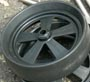 plastic wheel for kayak carts