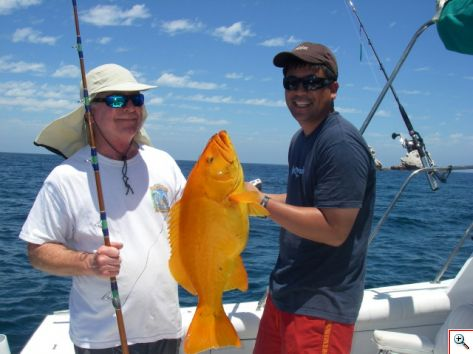 Guys with a Golden Grouper
