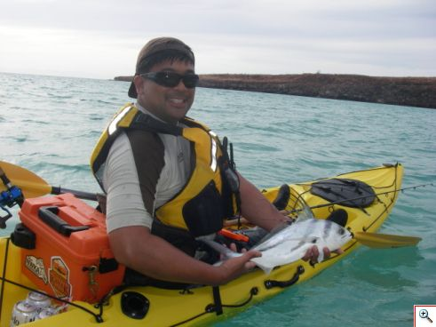 Allen with a cute little roosterfish