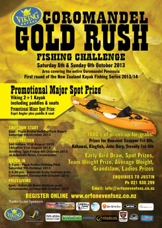 Goldrush Poster 2013 Ortons Events NZ