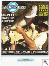 Mark on the cover of Hawaii Fishing News