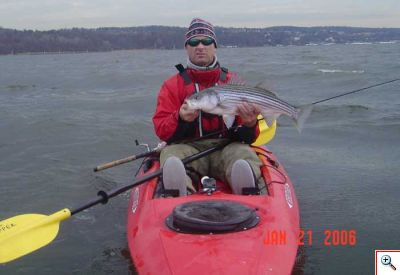 Semi Dytop and Waders for some January Stripers