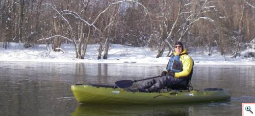 Jon in the Coosa on the Passaic River in January