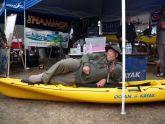 Joel modeling new Ocean Kayak
