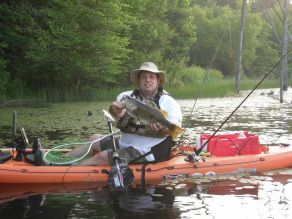 Author with largemouth