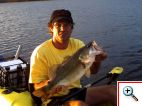 Nice Bass Trolled Up Kayak Fishing