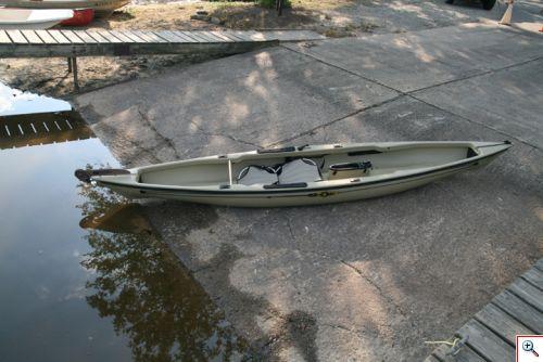 bare kayak