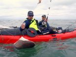 argentina, shark, kayak, sit on top, kayak fishing, fishing, big game