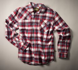 harkers flannel- red slider plaid