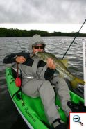 Sharon getting very friendly with a snook
