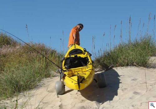 Balloon kayak wheels